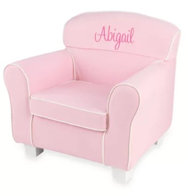 pink slipcover chair kids sports chairs kidkraft personalized emma laguna with slip cover