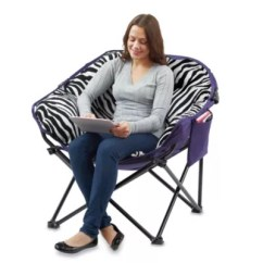 Folding Club Chair Bed Bath Beyond Leg Covers Canadian Tire With Pocket In Plush Zebra