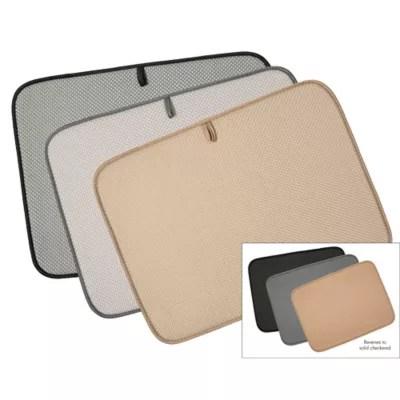 kitchen dish drying mat eurostyle cabinets mats drain bed bath beyond the original xl dual