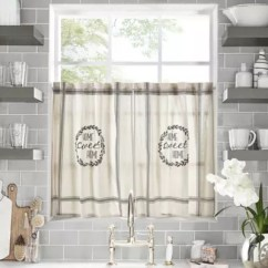 Kitchen Sheers Best Non Slip Shoes Farmhouse Curtains Bed Bath Beyond Home Sweet Window Curtain Tier Pair