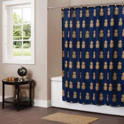 pineapple shower curtain bed bath