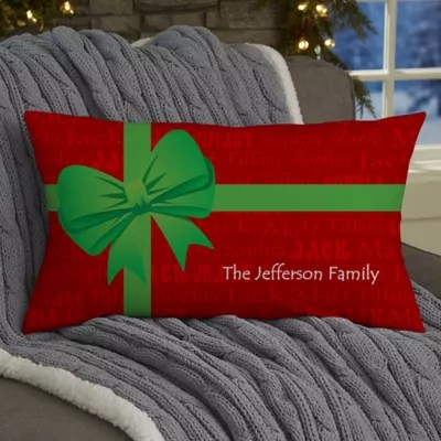 Christmas Present Personalized Lumbar Throw Pillow Bed Bath Amp Beyond