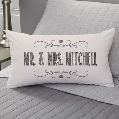 love quotes personalized lumbar throw pillow