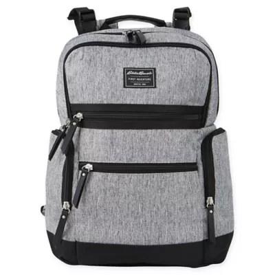 Eddie Bauer Sport Traveler Diaper Backpack in Grey