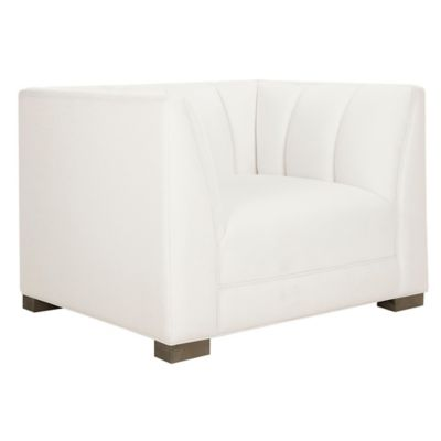 fuzzy white chair swivel casters bed bath beyond safavieh everly accent in