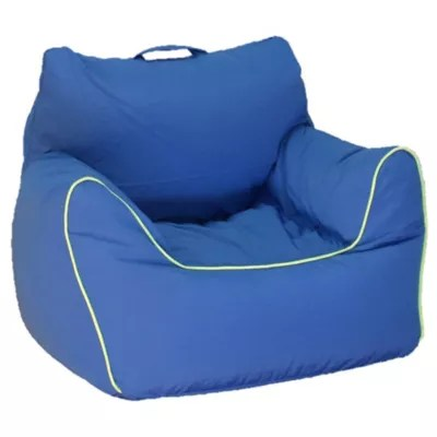 bean bag chairs red sling patio chair futon loungers bed bath beyond acessentials in blue