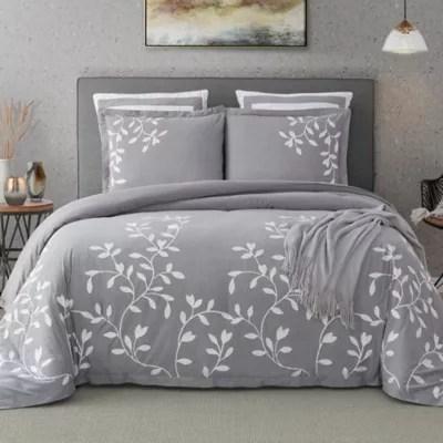 grey comforter sets bed bath beyond