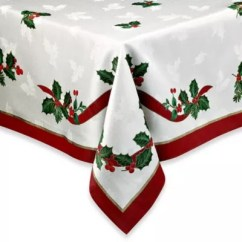 Christmas Chair Covers The Range Zulu Hanging Linens Tablecloth Placemats Napkins Bed Bath Beyond Holiday Ribbon Damask