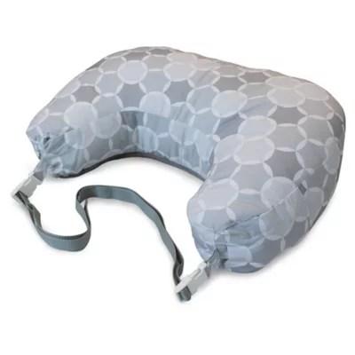 boppy best latch breastfeeding pillow in grey