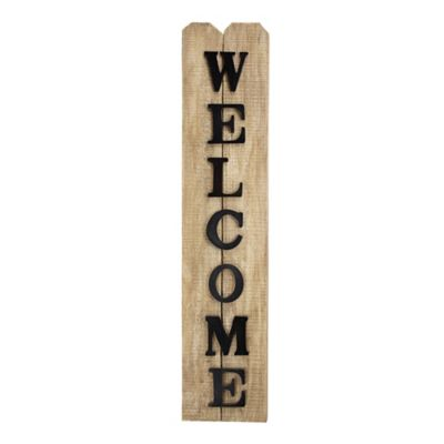 welcome sign bed bath