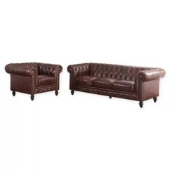 How To Clean Leather Sofa That Smells Of Smoke 4 Piece Sectional Canada Abbyson Living Hansen 2 And Armchair In Brown Bed Bath Beyond