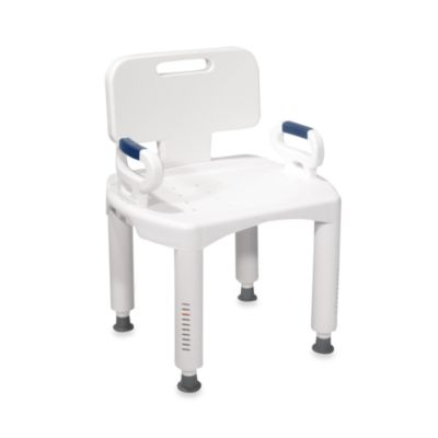 transfer shower chair gray living room chairs safety seat bench handles more drive medical premium bath with back and arms in white