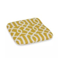 Buy 2.5-Inch Thick Chair Cushion in Yellow Trellis from ...