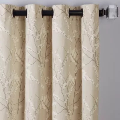 madison park aubrey 2 pack light filtering rod pocket window curtain panels