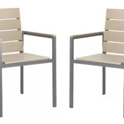 Stackable Outdoor Chairs Sling Canada Bed Bath Beyond Safavieh Beldan Patio In Taupe Set Of 2