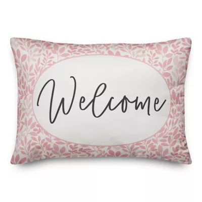 welcome pillow bed bath beyond
