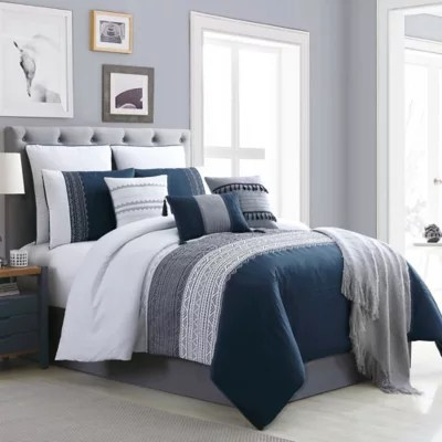 grey and blue comforter set bed bath