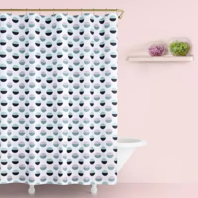 https www bedbathandbeyond com store product kate spade new york half dot shower curtain in lavender 5323514