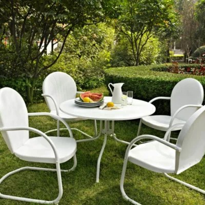 crosley griffith 5 piece metal outdoor dining set