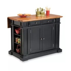 Portable Kitchen Corner Shelves Carts Islands Bed Bath Beyond Home Styles Island With Distressed Oak Top