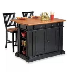 Kitchen Carts And Islands Distressed Chairs Portable Bed Bath Beyond Home Styles Oak Top Island Two Barstools