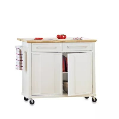 rolling kitchen carts design studio real simple island in white bed bath beyond