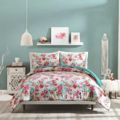 pink floral comforter bed bath beyond