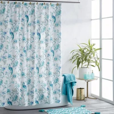 peacock shower curtain collection bed