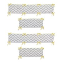 Sweet Jojo Designs Zig Zag Chevron 4-Piece Crib Bumper in ...