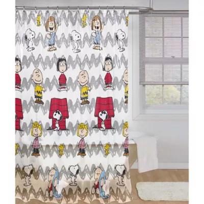 peanuts friends shower curtain