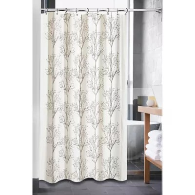 72 x 80 fabric shower curtain bed