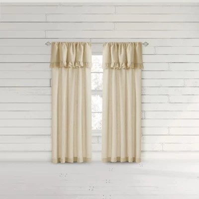 white ruffle curtains bed bath and