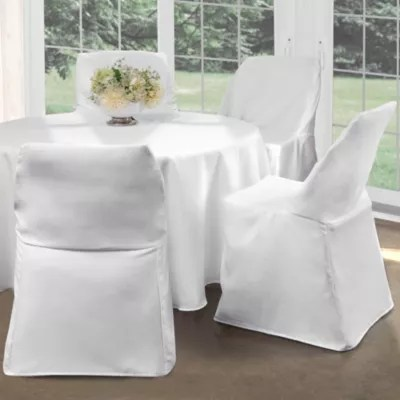 burlap chair covers for folding chairs modern swivel dining room slipcovers seat bed bath beyond cover