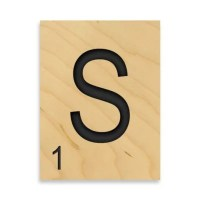 "Buy Game Tile Letter ""S"" Wall Art from Bed Bath & Beyond"