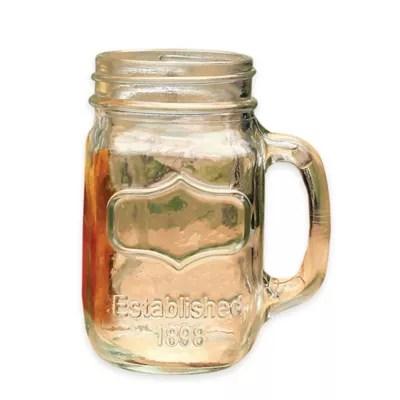 glass mason jar mugs