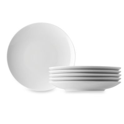 kitchen plates cabinet islands open stock bed bath and beyond canada rosenthal thomas loft appetizer in white set of 6