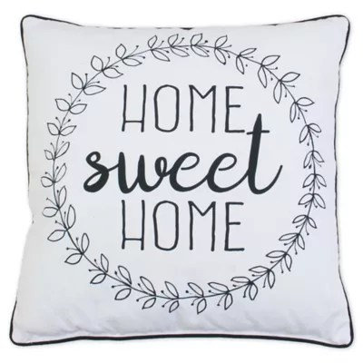 home sweet home couch pillow bed bath