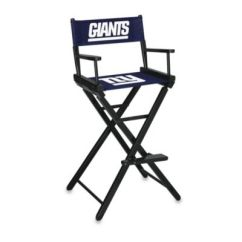 Tall Director Chair 4x4 Power Directors Bed Bath Beyond Nfl New York Giants Bar Height