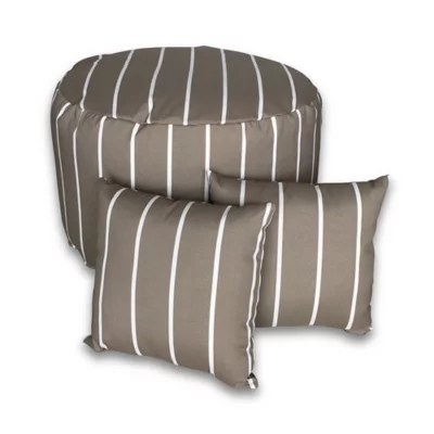bed bath beyond striped 3 piece round outdoor pouf square throw pillow set in grey from bed bath beyond accuweather