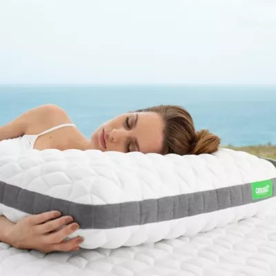 cariloha flex viscose made from bamboo charcoal memory foam bed pillow