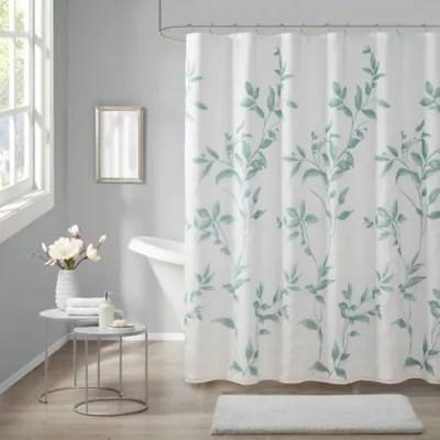 green shower curtain bed bath beyond