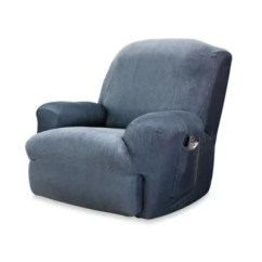 Wing Chair Recliner Canada Ems Stair Lift Slipcovers Bed Bath And Beyond Sure Fit Reg Stretch Stripe Slipcover
