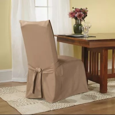 dining room chair covers near me cover rentals kingston recliner slipcovers bed bath sure fit duck supreme cotton slipcover