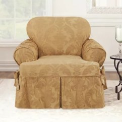 Chair Slipcover T Cushion Hammock Stand Amazon Sure Fit Matelasse Damask Bed Bath Beyond