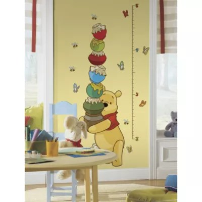 View  larger version of this product image also roommates winnie the pooh peel  stick growth chart bed bath and rh bedbathandbeyond