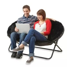 Double Saucer Chair Black Skeleton Coffee Idea Nova In Bed Bath Beyond
