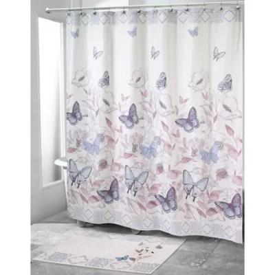 butterflies shower curtain bed bath