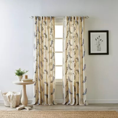 bee willow home bedford rod pocket back tab light filtering window curtain panel