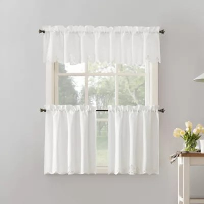 3 piece kitchen curtains bed bath