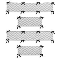Sweet Jojo Designs Zig Zag Crib Bedding Collection in Grey ...